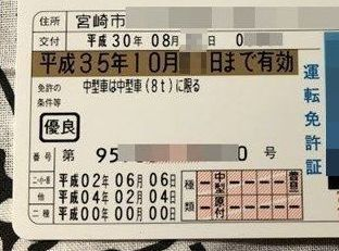 免許の更新,期間,視力,写真,初回,時間,費用,土日,神奈川,福岡,宮崎