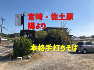 【宮崎】宮崎で美味しい手打ちそば屋さんを見つけた。「陽より」