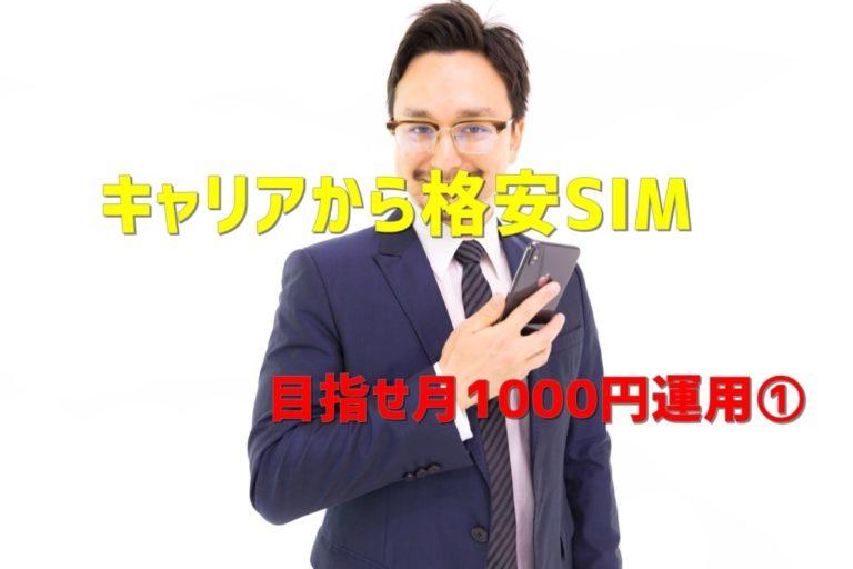 【格安SIM】キャリアから格安SIMに乗り換えて目指せ月1000円運用①~乗り換え準備~